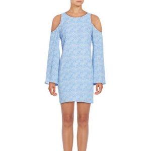 Design Lab Blue Cold Shoulder Dress-Size Small